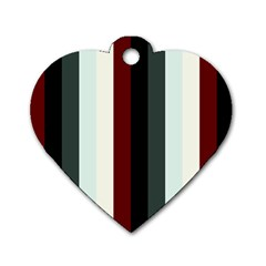 Sitting Dog Tag Heart (two Sides)