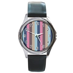 Modern Baroque Round Metal Watch