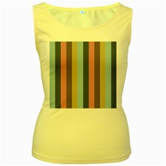 Modern Baroque Women s Yellow Tank Top