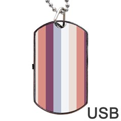 Grape Tapestry Dog Tag Usb Flash (one Side)