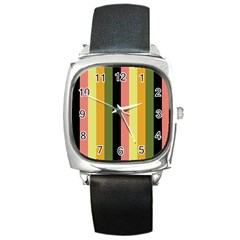 Afternoon Square Metal Watch