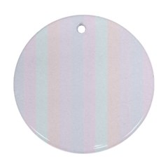 Albino Pinks Round Ornament (two Sides)