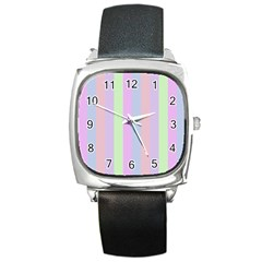 Baby Shoes Square Metal Watch