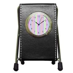 Baby Shoes Pen Holder Desk Clocks