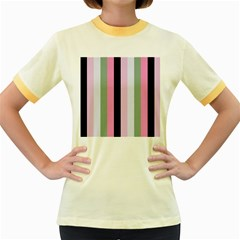 Electric Sunday Women s Fitted Ringer T Shirts
