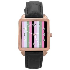Electric Sunday Rose Gold Leather Watch