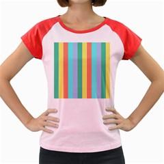 Summer Stripes Women s Cap Sleeve T Shirt