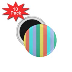 Summer Stripes 1 75  Magnets (10 Pack)
