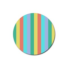 Summer Stripes Rubber Round Coaster (4 Pack)
