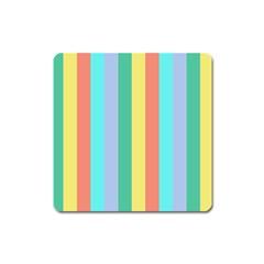 Summer Stripes Square Magnet