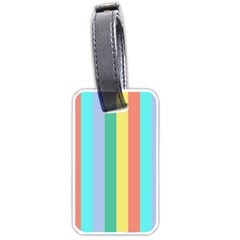 Summer Stripes Luggage Tags (one Side)