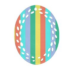 Summer Stripes Ornament (oval Filigree)
