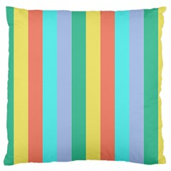 Summer Stripes Large Cushion Case (two Sides)