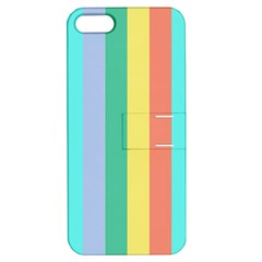 Summer Stripes Apple Iphone 5 Hardshell Case With Stand
