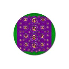 Peace Be With Us In Love And Understanding Magnet 3  (round)