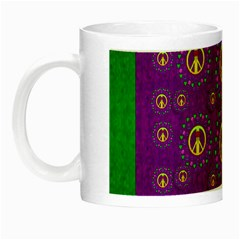 Peace Be With Us In Love And Understanding Night Luminous Mugs