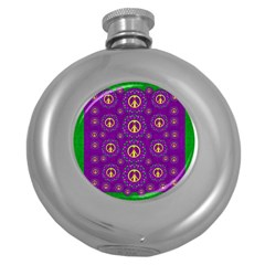 Peace Be With Us In Love And Understanding Round Hip Flask (5 Oz)
