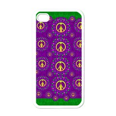 Peace Be With Us In Love And Understanding Apple Iphone 4 Case (white)