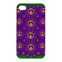 Peace Be With Us In Love And Understanding Apple Iphone 4/4s Premium Hardshell Case