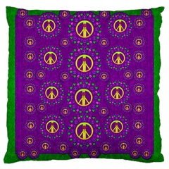 Peace Be With Us In Love And Understanding Large Cushion Case (two Sides)