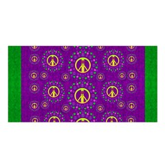 Peace Be With Us In Love And Understanding Satin Shawl