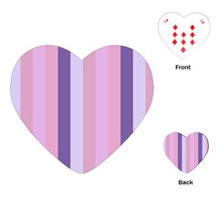 Violet Stars Playing Cards (heart)