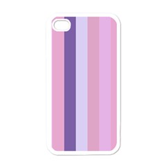 Violet Stars Apple Iphone 4 Case (white)