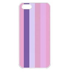 Violet Stars Apple Iphone 5 Seamless Case (white)