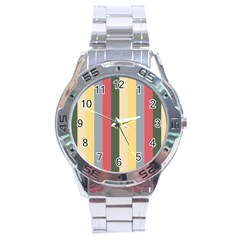 Summer Rose Stainless Steel Analogue Watch