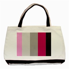 Laura Lines Basic Tote Bag (two Sides)