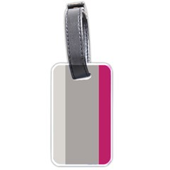 Laura Lines Luggage Tags (one Side)