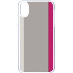 Laura Lines Apple Iphone X Seamless Case (white)