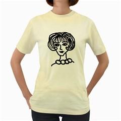 20s Girl Women s Yellow T Shirt
