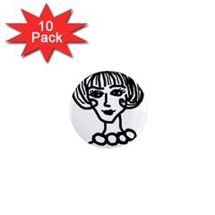 20s Girl 1  Mini Magnet (10 Pack)