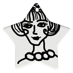 20s Girl Star Ornament (two Sides)