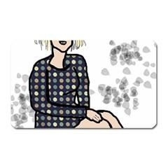 Girl Sitting Magnet (rectangular)