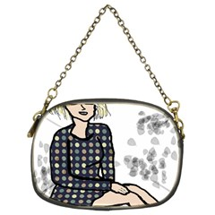 Girl Sitting Chain Purses (two Sides)