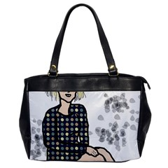 Girl Sitting Office Handbags