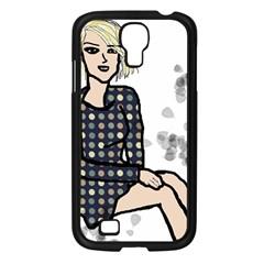 Girl Sitting Samsung Galaxy S4 I9500/ I9505 Case (black)
