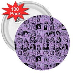 Lilac Yearbok 3  Buttons (100 Pack)