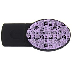 Lilac Yearbok Usb Flash Drive Oval (2 Gb)