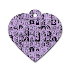 Lilac Yearbok Dog Tag Heart (two Sides)