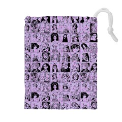 Lilac Yearbok Drawstring Pouches (extra Large)