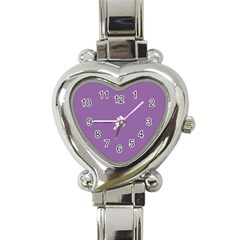 Another Purple Heart Italian Charm Watch