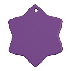 Another Purple Ornament (snowflake)