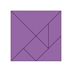 Another Purple Acrylic Tangram Puzzle (4  X 4 )