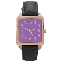 Another Purple Rose Gold Leather Watch