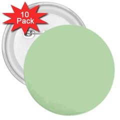Baby Green 3  Buttons (10 Pack)