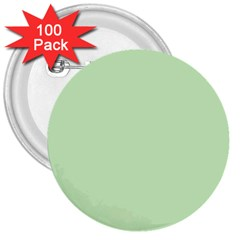 Baby Green 3  Buttons (100 Pack)