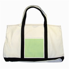 Baby Green Two Tone Tote Bag